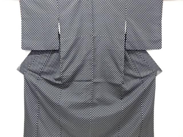 【IDnet】 井桁絣織り出しお召し着物アンサンブル【リサイクル】【中古】【着】