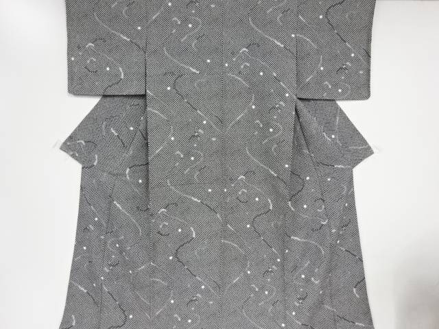【IDnet】 こうけち線描きに水玉模様小紋着物【リサイクル】【中古】【着】