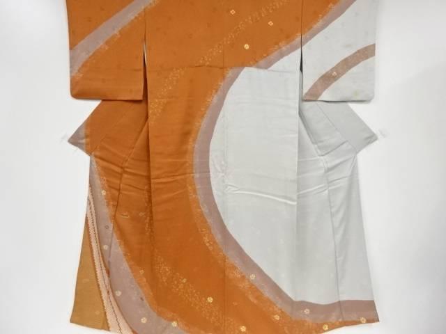 【IDnet】 金彩絞り笹・梅模様刺繍一つ紋訪問着【リサイクル】【中古】【着】