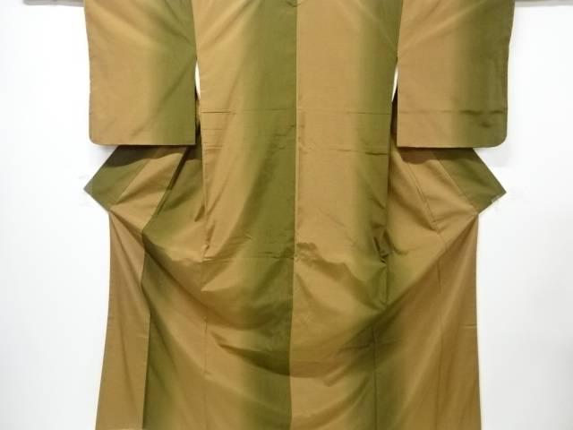 【IDnet】 未使用品 草木染手織り節紬暈し着物【リサイクル】【着】