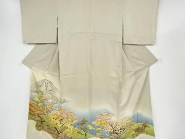 【IDnet】 手描き湖畔に松林模様色留袖【リサイクル】【中古】【着】