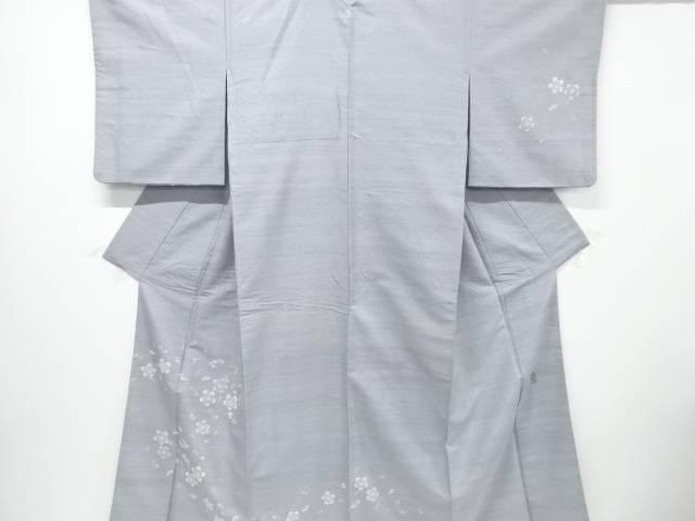 【IDnet】 粋秀作 相良刺繍桜散らし模様手織り真綿紬一つ紋訪問着【リサイクル】【中古】【着】
