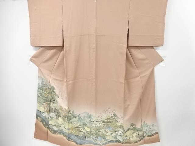 【IDnet】 寿光織都三名園織り出し一つ紋色留袖【リサイクル】【中古】【着】