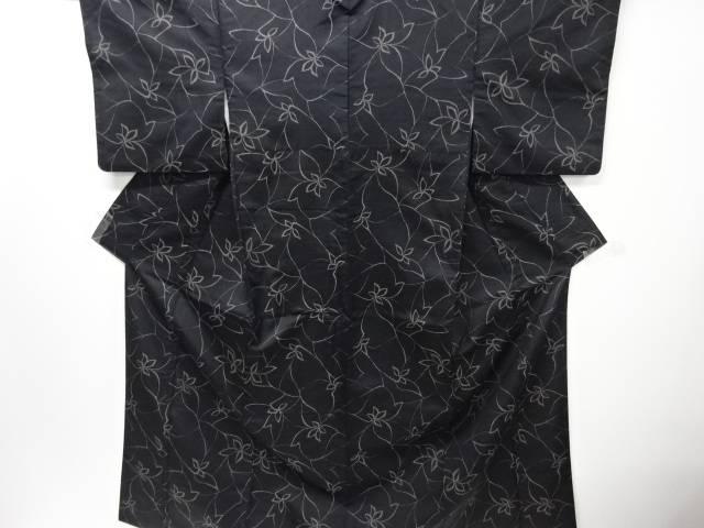 【IDnet】 花模様織り出しお召し着物【リサイクル】【中古】【着】
