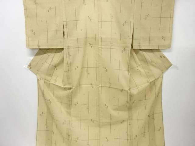 【IDnet】 未使用品 仕立て上がり 紗紬琉球絣柄織り出し着物【着】