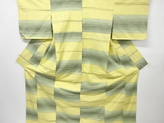 【IDnet】 米沢紬紅花染め横段織り出し着物【リサイクル】【中古】【着】