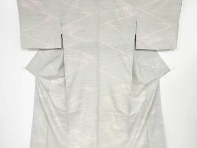 【IDnet】 線描き模様織り出し手織り紬着物【リサイクル】【中古】【着】