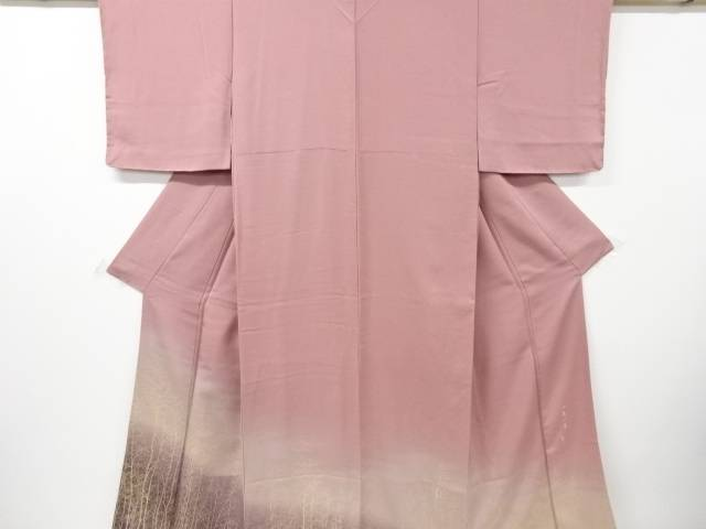 【IDnet】 未使用品 仕立て上がり 作家物 寿光織木立模様織り出し色留袖【着】