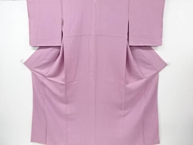 【IDnet】 未使用品 仕立て上がり 織柄一つ紋色無地着物【着】