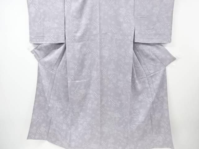 【IDnet】 未使用品 仕立て上がり 絞り梅・椿・楓模様単衣小紋着物【着】