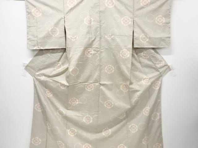 【IDnet】 雪輪に華紋織り出し本場白大島紬着物(5マルキ)【リサイクル】【中古】【着】