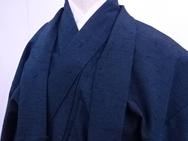 【IDnet】 男物紬 アンサンブル 髭紬 着物【リサイクル】【中古】【着】