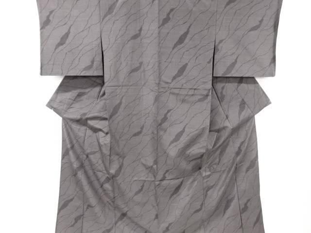 【IDnet】 未使用品 変わり道長取り模様織り出し本塩沢200亀甲単衣着物(松坂屋)【リサイクル】【着】