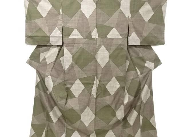 【IDnet】 石畳模様織り出し本場泥大島紬着物(9マルキ)【リサイクル】【中古】【着】