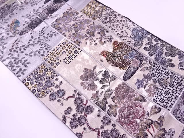 【IDnet】 とみや織物製 引箔秀華献上文織出し袋帯【リサイクル】【中古】【着】