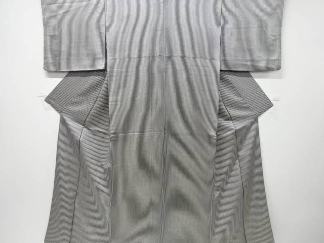 【IDnet】 金通し縞模様小紋着物【リサイクル】【中古】【着】