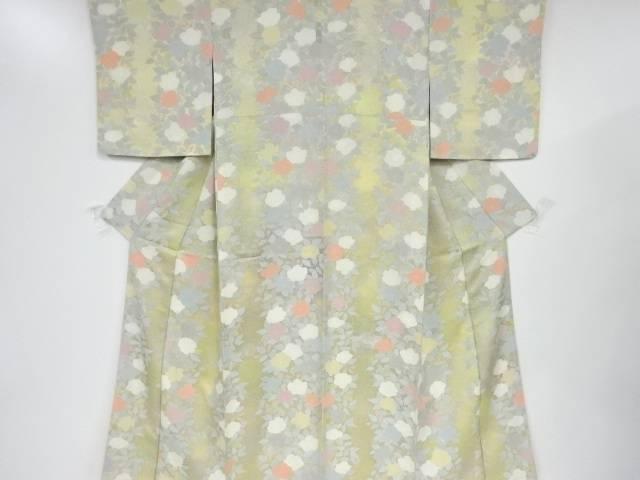 【IDnet】 未使用品 仕立て上がり のり散らしに花模様暈し小紋着物【着】