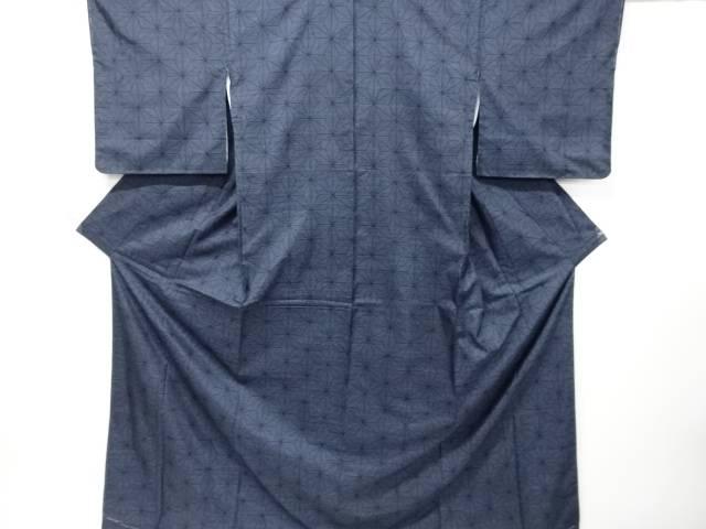 【IDnet】 未使用品 麻の葉織り出し本場泥大島紬着物(5マルキ)【リサイクル】【着】