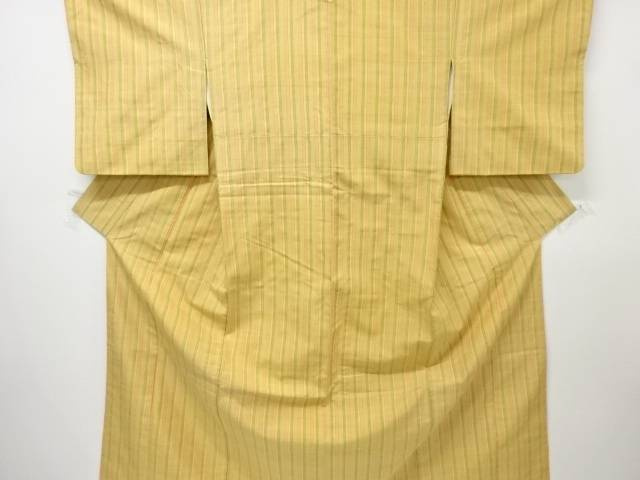 【IDnet】 米沢紬紅花染縞織り出し着物【リサイクル】【中古】【着】