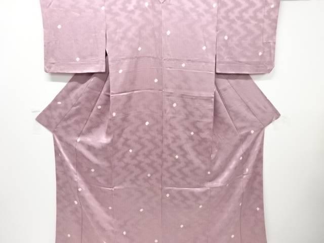 【IDnet】 縞に水玉模様小紋着物【リサイクル】【中古】【着】