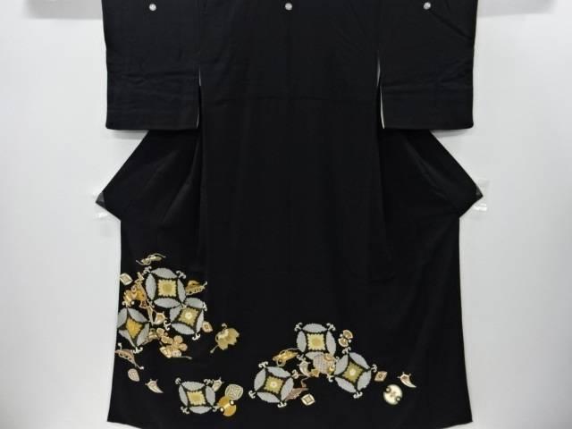 【IDnet】 金彩七宝に宝尽くし模様刺繍留袖(比翼付き)【リサイクル】【中古】【着】