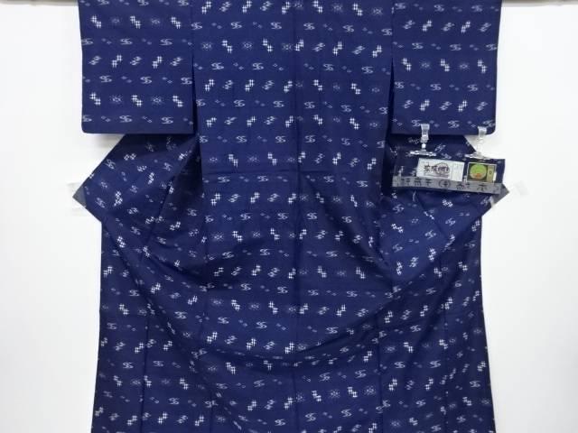 【IDnet】 本場琉球絣手織り紬単衣着物【リサイクル】【中古】【着】