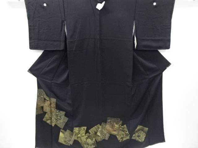 【IDnet】 未使用品 寿光織百人一首柄織り出し留袖(比翼付き)【リサイクル】【着】