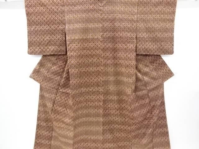 【IDnet】 未使用品 仕立て上がり 本絞り手織り紬着物【着】