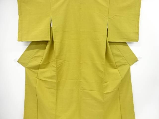 【IDnet】 未使用品 手織り節紬一つ紋着物【リサイクル】【着】