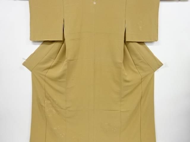 【IDnet】 汕頭蘇州刺繍茶屋辻模様一つ紋付下げ色無地着物【リサイクル】【中古】【着】