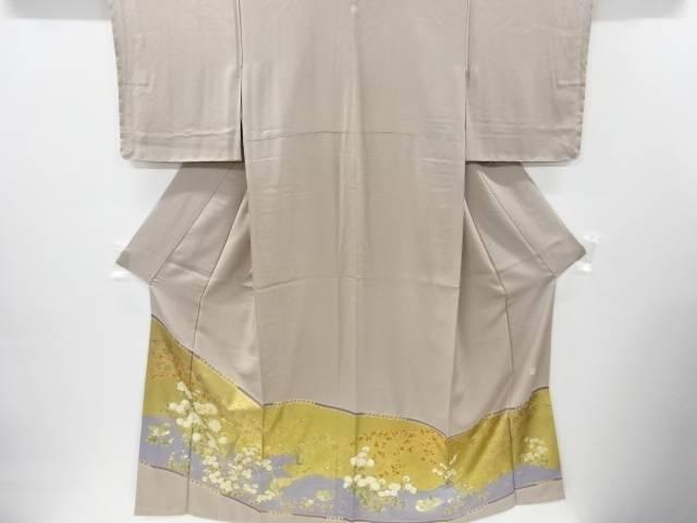 【IDnet】 未使用品 仕立て上がり 作家物 金彩友禅菊に雉模様一つ紋色留袖【着】