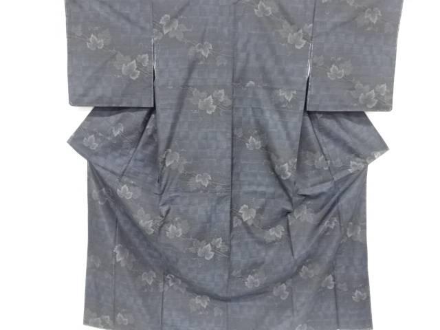 【IDnet】 未使用品 蔦の葉模様織り出し本場泥大島紬着物【リサイクル】【着】