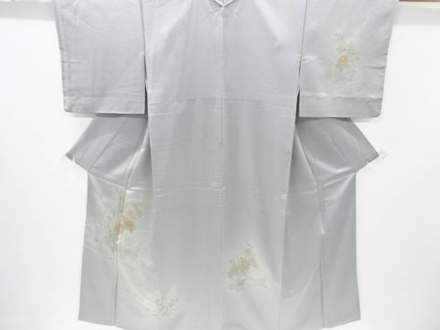 【IDnet】 汕頭蘇州刺繍流水に菊・橘模様一つ紋訪問着【リサイクル】【中古】【着】