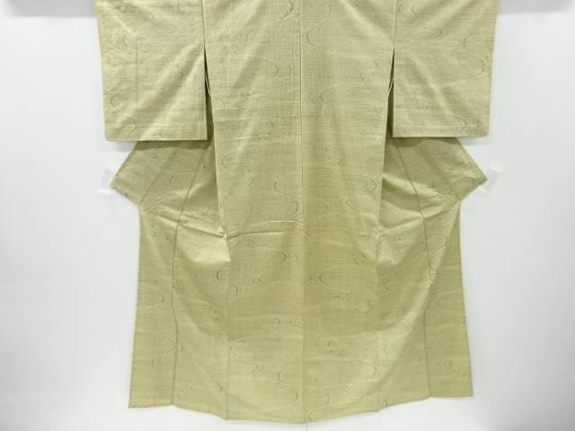 【IDnet】 流水模様織り出し手織り紬単衣着物【リサイクル】【中古】【着】