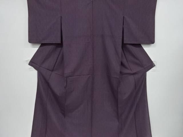 【IDnet】 紗よろけ縞模様織り出し着物【リサイクル】【中古】【着】