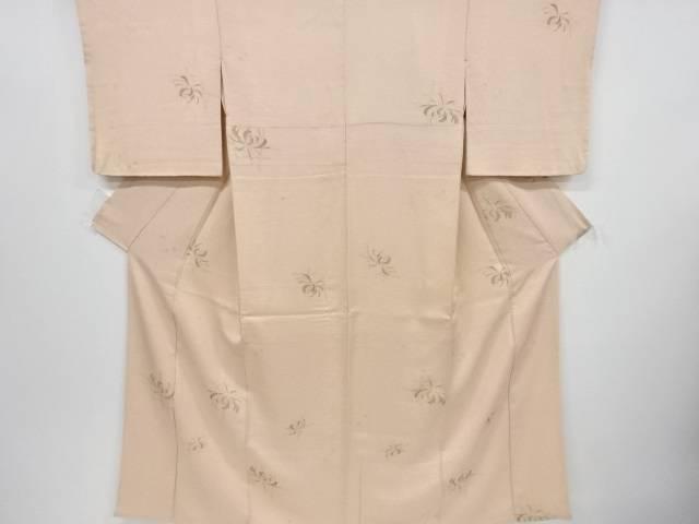 【IDnet】 抽象乱菊模様織り出し小紋着物【リサイクル】【中古】【着】