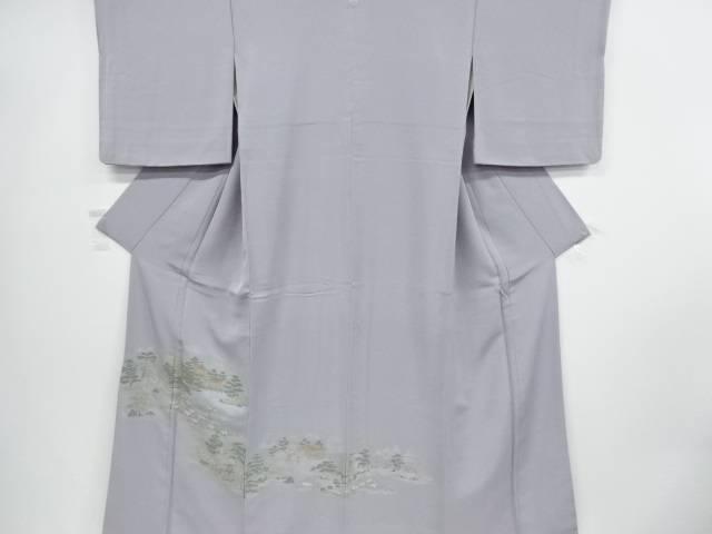 【IDnet】 寿光織寺院に庭園風景模様織り出し一つ紋色留袖【リサイクル】【中古】【着】