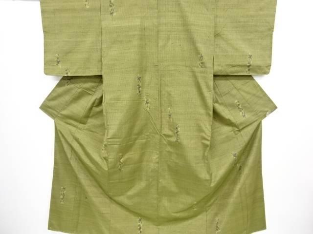 【IDnet】 未使用品 花更紗模様織出手織り紬着物【リサイクル】【着】