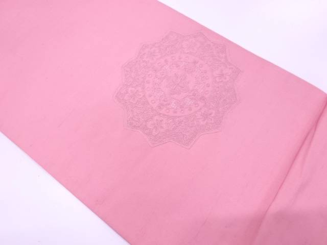 【IDnet】 汕頭相良刺繍草花模様袋帯【リサイクル】【中古】【着】