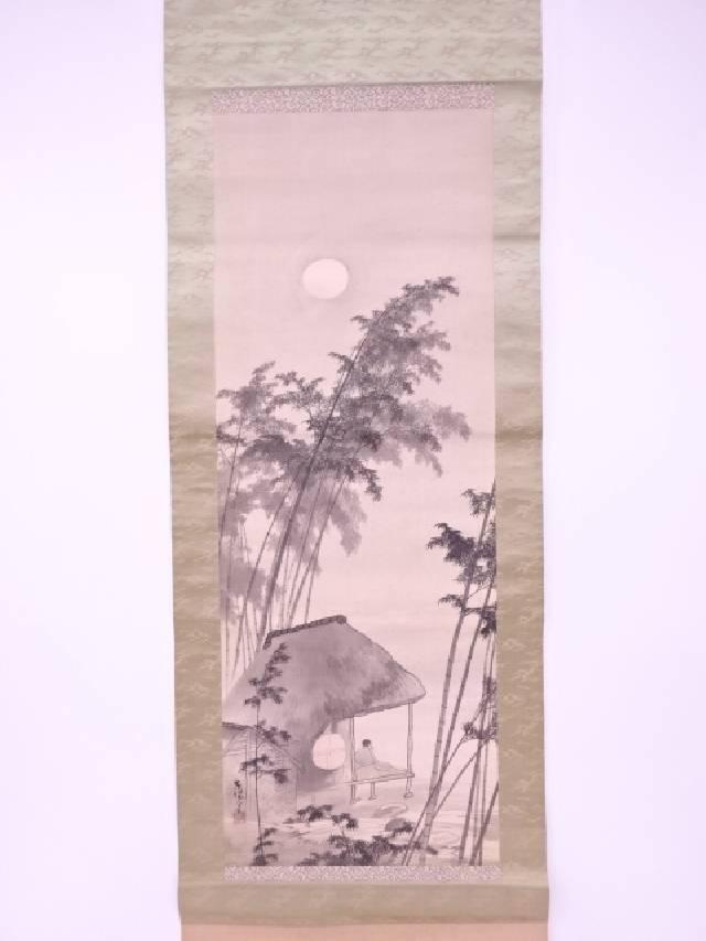 【IDnet】 日本画 東陽筆 時代人物風景 肉筆絹本掛軸(無地箱)【中古】【道】