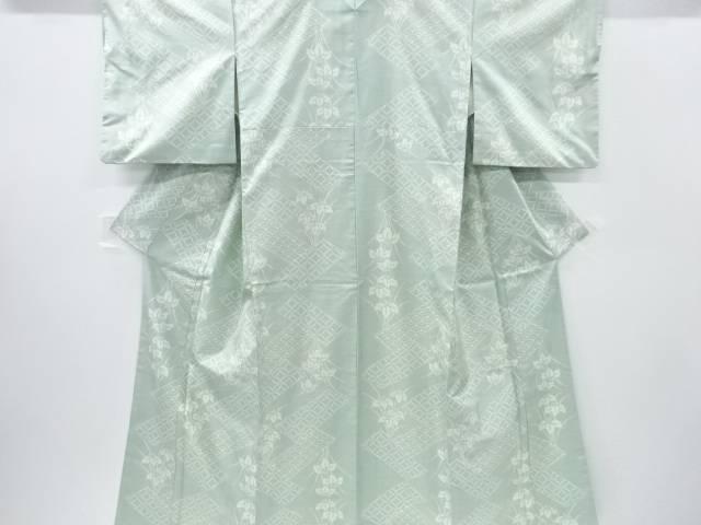 【IDnet】 菖蒲に古典柄織り出し本場白大島紬着物(7マルキ)【リサイクル】【中古】【着】