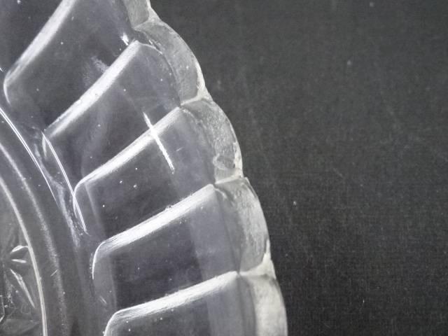 IDnet昭和レトロ プレスガラス小皿6客 道8wNnPk0OX