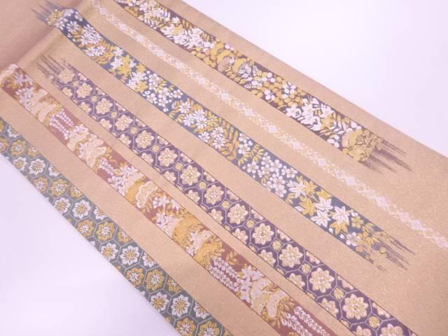 【IDnet】 未使用品 四季漆絵花文織出し袋帯【リサイクル】【着】