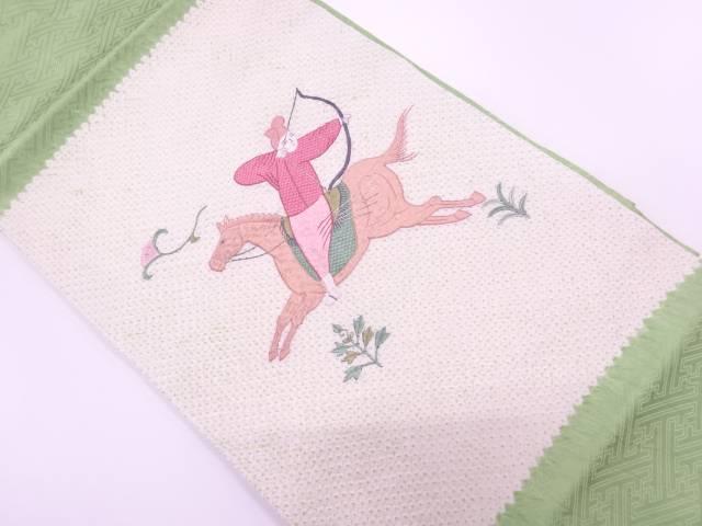 【IDnet】 絞り狩猟模様刺繍名古屋帯【リサイクル】【中古】【着】