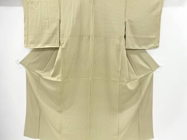 【IDnet】 未使用品 縞模様単衣小紋着物【リサイクル】【着】
