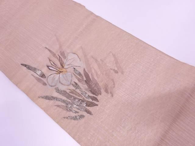 【IDnet】 未使用品 すくい織モール菖蒲模様織出し袋帯【リサイクル】【着】