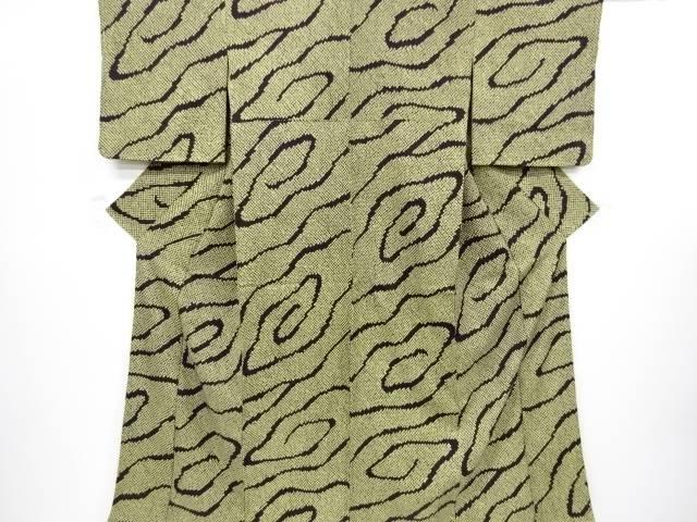 【IDnet】 本総絞り線描き模様小紋着物【リサイクル】【中古】【着】