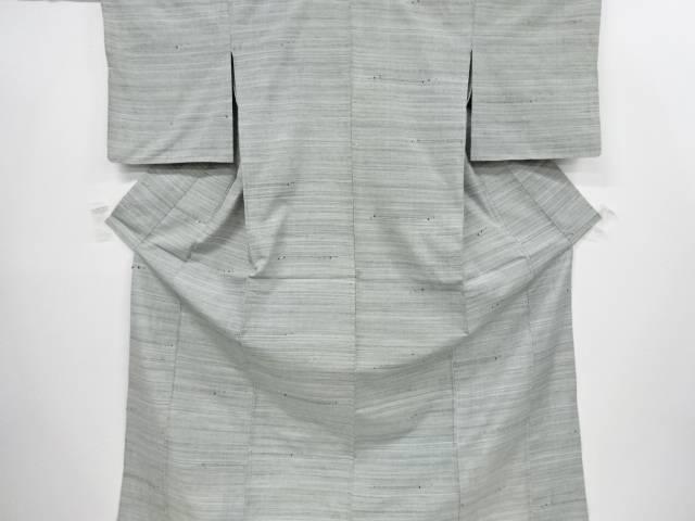 【IDnet】 横段織り出し手織り真綿紬単衣着物【リサイクル】【中古】【着】