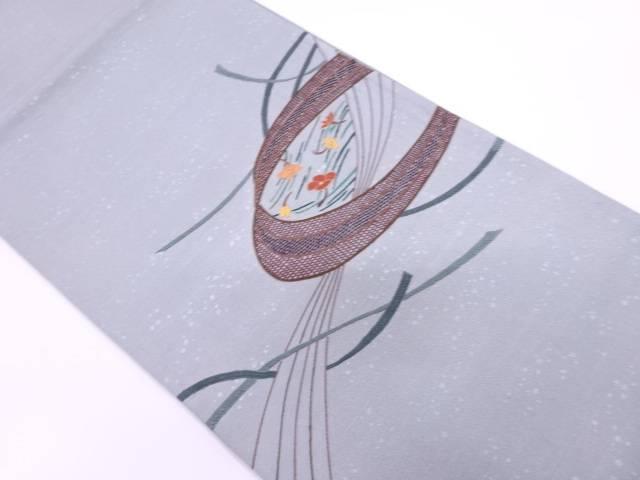【IDnet】 未使用品 草花模様刺繍袋帯【リサイクル】【着】