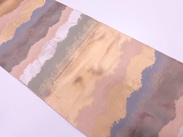 【IDnet】 琥珀錦抽象模様織出し袋帯【リサイクル】【中古】【着】